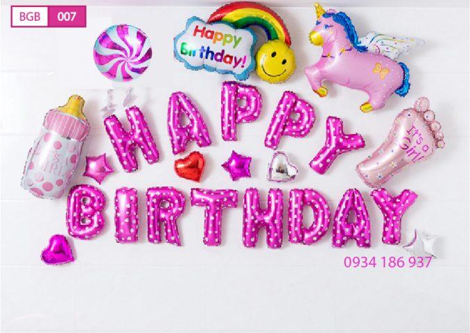 Bóng trang trí sinh nhật cho em bé gái