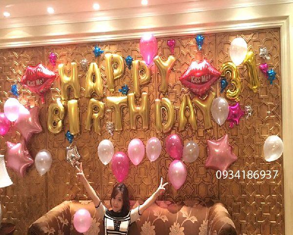 Bóng trang tri sinh nhật cho bạn gái, bóng trang tri sinh nhật người yêu
