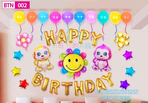 Mẫu bóng sinh nhật cho bé gái BGS006