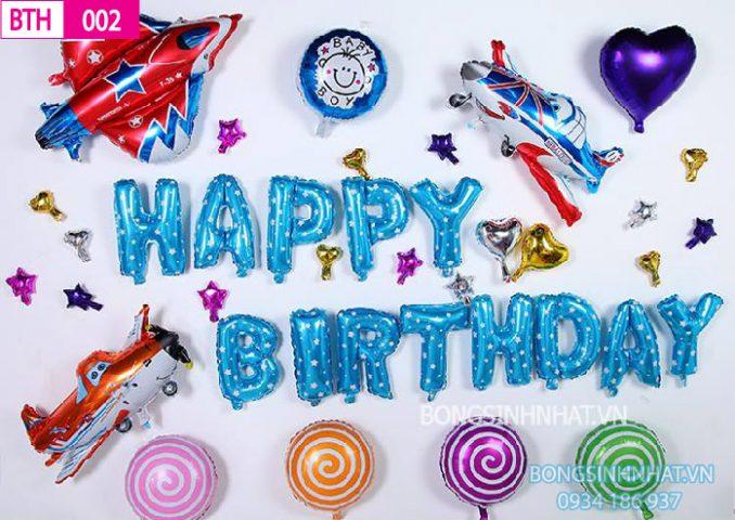 Bóng sinh nhật cho bé trai BTH002