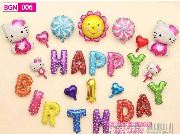 Set bóng sinh nhật cho bé gái BGN006