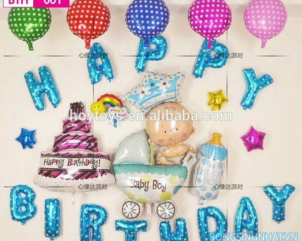 Bóng trang trí sinh nhật bé trai BGH001
