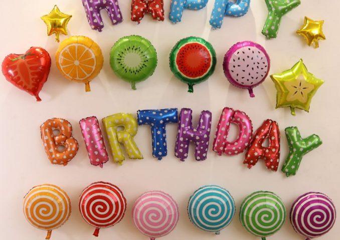 Bóng trang trí sinh nhật bạn gái kẹo nhiều màu