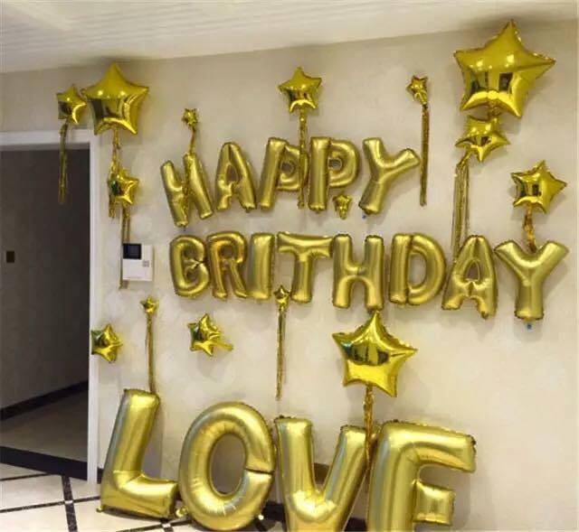 Set bóng trang trí sinh nhật cho bạn trai