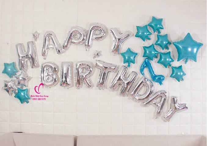 set bóng trang trí sinh nhật bạn trai đẹp, bóng trang trí sinh nhật bạn trai lãng mạn