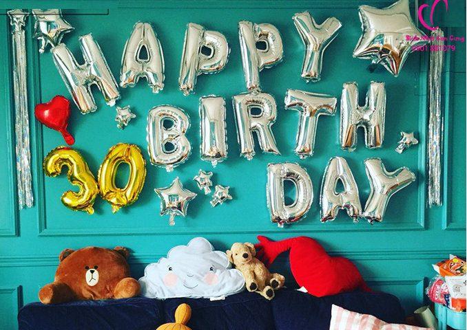 Bóng trang trí sinh nhật cho bạn trai đẹp, bóng trang trí sinh nhật người lớn