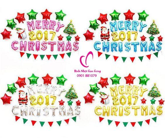 set bóng trang trí giáng sinh, bóng trang trí NOEL, Bóng trang trí Merry Christmas