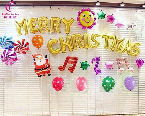set bong trang tri giáng sinh, bóng trang tri noel, bóng merry christmas