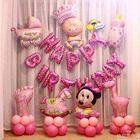 Set bóng sinh nhật be gái