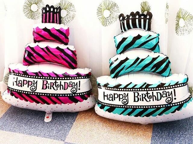 Bóng sinh nhật hình bánh kem lớn