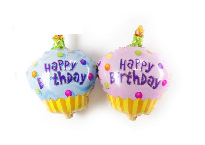 Bóng sinh nhật hình bánh cupcake