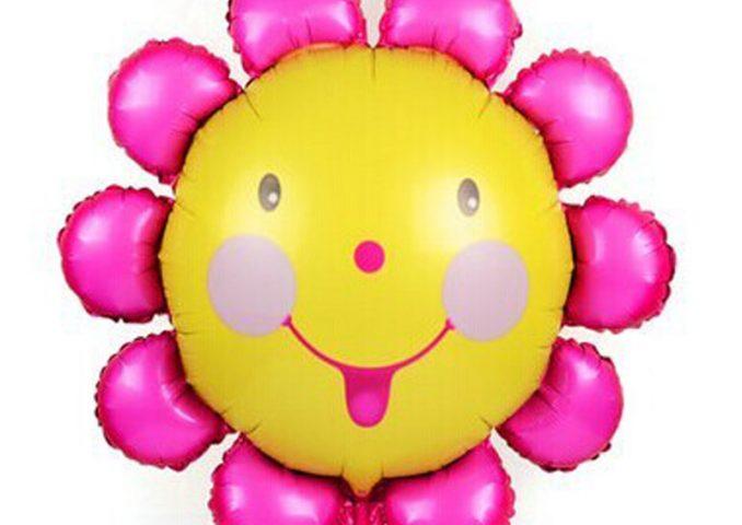 Bóng sinh nhật hình bông hoa cánh hồng