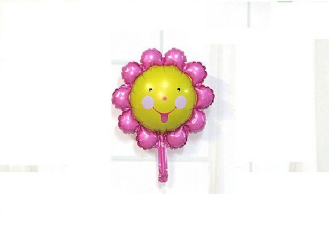 Bóng sinh nhật hình bông hoa cánh hồng nhỏ
