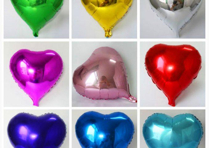 Bóng sinh nhật hình trái tim 25cm