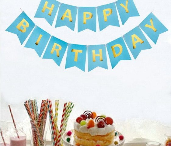 Dây chữ Happy Birthday ép kim