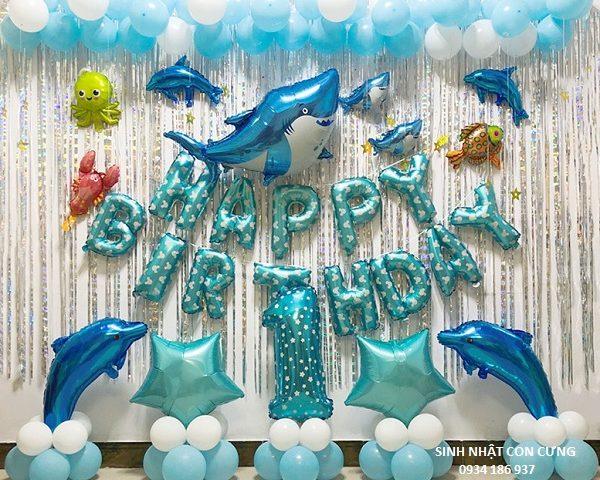 Set bóng trang trí sinh nhật cho em bé