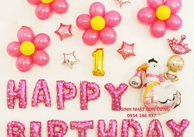 set bóng bay trang trí sinh nhật tuổi gà