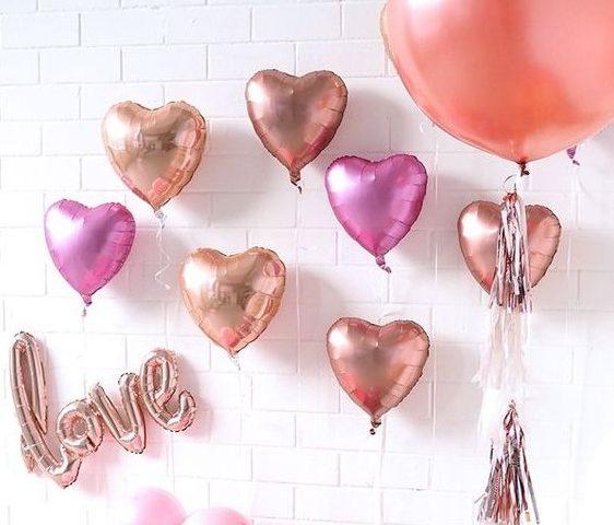 bóng bay trang trí valentine
