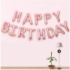 Bóng happy birthday màu hồng