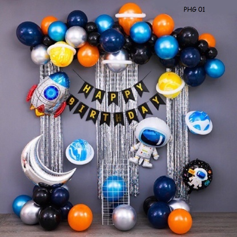 Bóng trang trí sinh nhật bé trai