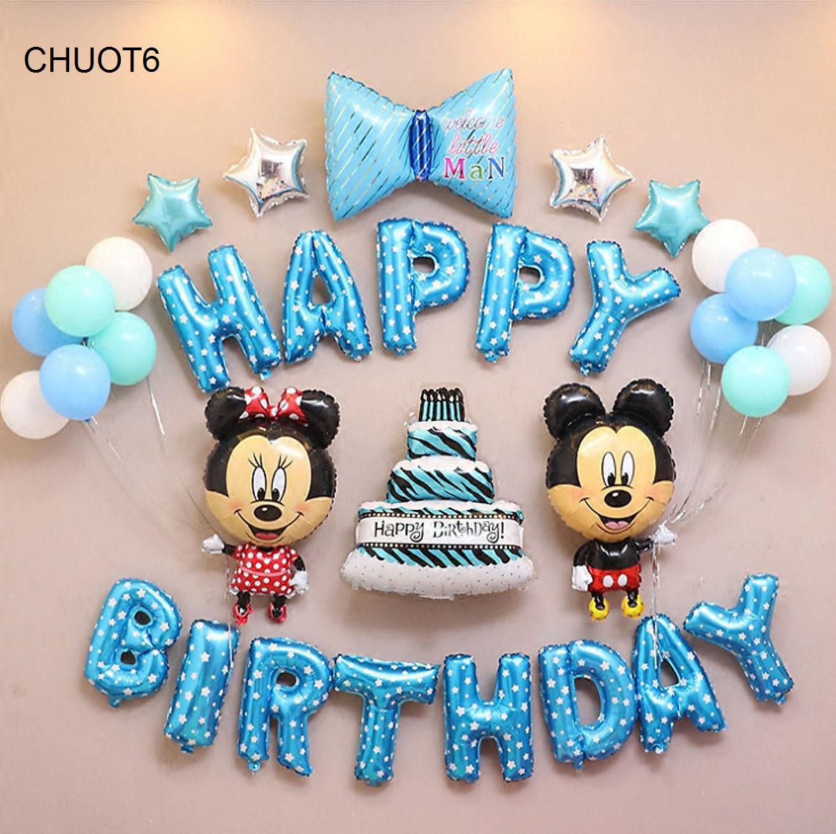 Bộ bóng trang trí sinh nhật cho bé chủ đề chuột mickey